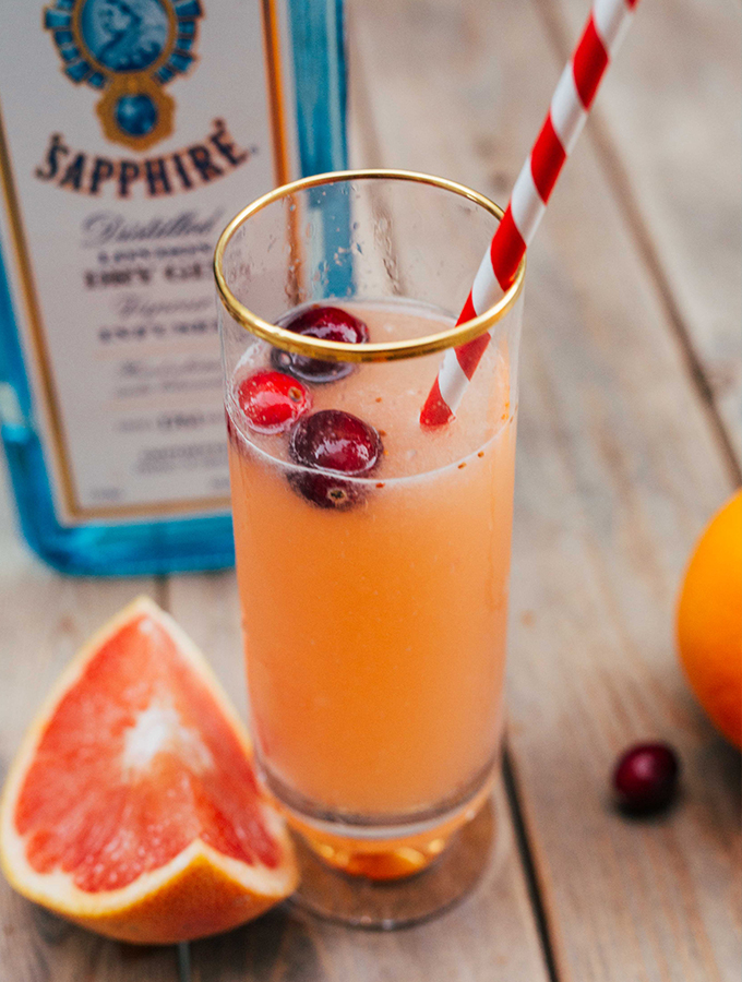 Champagne cocktail, Gin cocktails, Bombay Sapphire, NYE Drinks, Citrus and Champagne Cocktail, Healthy Cocktail Recipes