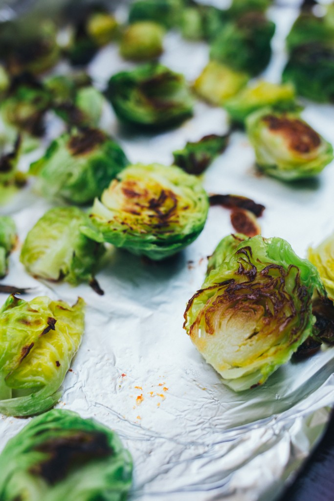 Roasted Brussel Sprouts with Tahini Ranch | AMAZING side dish, packed with flavor and COLOR #Vegan #EatVeggies
