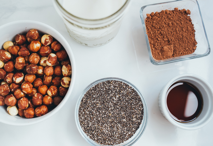 Vegan Nutella Pudding, Chia Seed Pudding, Healthy Dessert Recipes