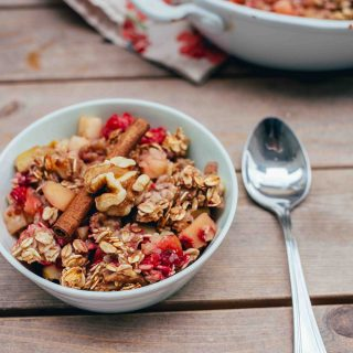 Raspberry Apple Breakfast Bake