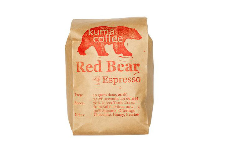 kuma coffee red bear espresso