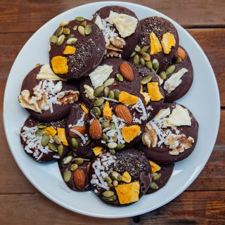 Chocolate Trail Mix Bites